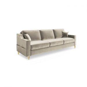 Canapea extensibilă cu 3 locuri Mazzini Sofas Marigold, bej