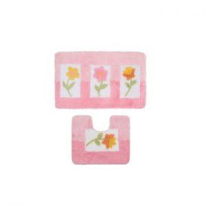 Set 2 covorașe Confetti Bathmats Anjelik Pink