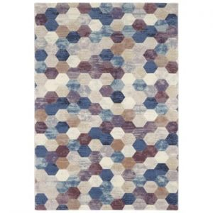 Covor Elle Decor Arty Manosque, 120 x 170 cm, albastru - violet