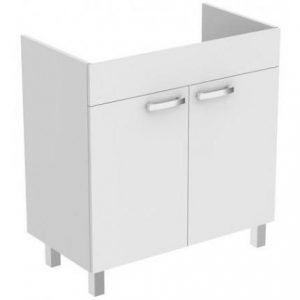 Dulap baza pe pardoseala Ideal Standard Tempo 80 cm alb 2 usi