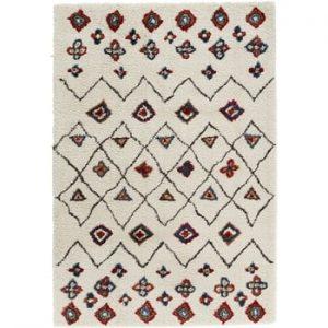 Covor Mint Rugs Allure Ronno Creme, 80 x 150 cm, crem-roșu