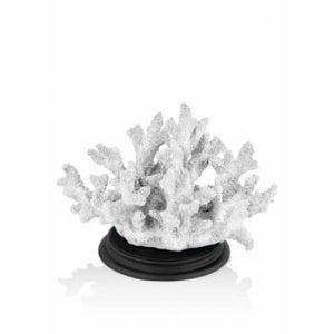 Coral decorativ The Mia Coral, 27 x 17 cm, alb