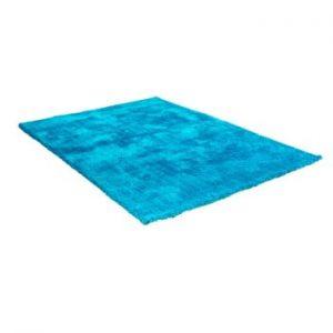 Covor cu amestec de bumbac Cotex Donare, 90 x 160 cm, albastru