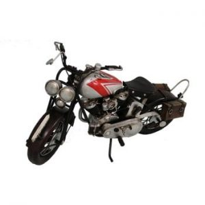 Decorațiune Antic Line Silver Motocycle