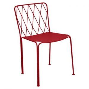 Scaun grădină Fermob Kintbury, roșu