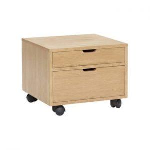 Cutie pentru depozitare pe roți Hübsch Oak Wooden Box