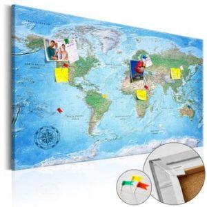 Hartă decorativă a lumii Bimago Traditional Cartography 90 x 60 cm