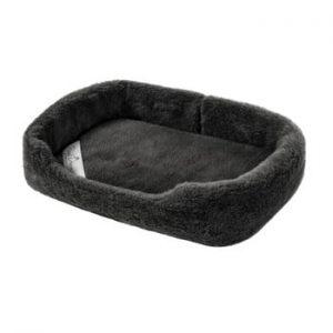 Pat coș din lână merino, pentru animale de companie Royal Dream, lățime 60 cm, negru