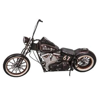Motoretă decorativă Antic Line Black Motocycle