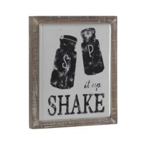 Semn decorativ în ramă de lemn Geese Shake