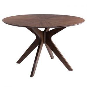 Masă cu elemente din lemn de nuc sømcasa Carmel, ⌀ 120 cm