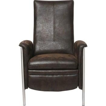 Fotoliu cu suport pentru picioare expandabil Kare Design Relax, maro