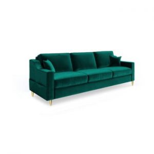 Canapea extensibilă cu 3 locuri Mazzini Sofas Marigold, verde