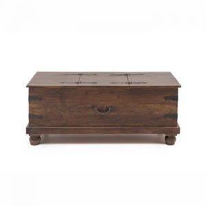 Cutie depozitare din lemn de salcâm WOOX LIVING Traditional India