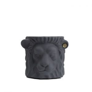 Ghiveci Garden Glory Lion, înălțime 20 cm, gri