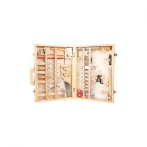 Set unelte și cutie din lemn pentru copii Legler Deluxe