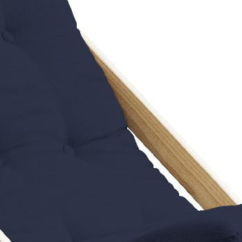 Scaun pliabil din lemn de fag Karup Design Boogie Dark Blue, 60 x 116 cm, albastru închis