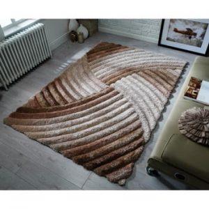 Covor Flair Rugs Furrow Natural, 80 x 150 cm, gri-maro