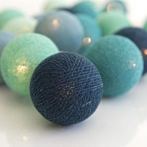 Șirag luminos Irislights Cool Mint, 35 beculețe