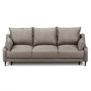 Canapea extensibilă cu 3 locuri și spațiu pentru depozitare Mazzini Sofas Ancolie, maro deschis
