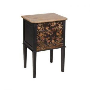 Noptieră cu 3 sertare din lemn mindi Santiago Pons Batik