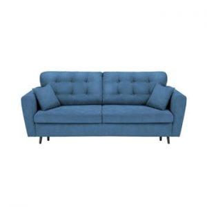 Canapea extensibilă cu 3 locuri și spațiu pentru depozitare Cosmopolitan Design Lyon, albastru