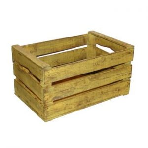 Cutie din lemn Antic Line Wooden Yellow