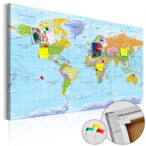 Hartă decorativă a lumii Bimago Orbis Terrarum 90 x 60 cm
