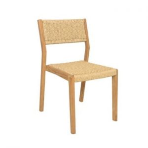 Set 4 scaune de grădină din lemn de tec Ezeis Sun, natural