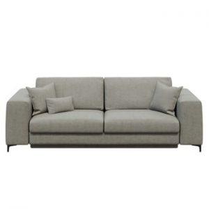 Canapea extensibilă cu 3 locuri devichy Rothe, gri deschis