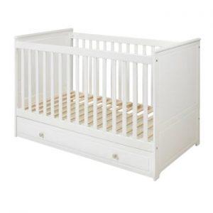 Pătuț pentru copii BELLAMY Marylou,60x120cm, alb
