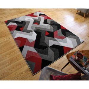 Covor Flair Rugs Aurora Grey Red, 120 x 170 cm