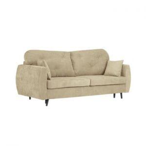 Canapea extensibilă cu 3 locuri și spațiu pentru depozitare Kooko Home Bluzz, bej