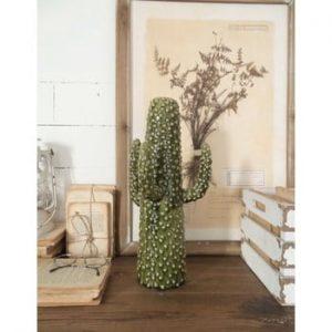 Statuetă din ceramică Orchidea Milano Cactus Summer In Italy, înălțime 41 cm, verde