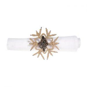 Set 12 inele decorative pentru șervețele Côté Table Snowflake