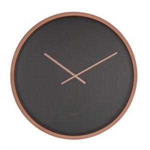 Ceas de perete Zuiver Time Bandit, negru - arămiu