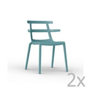 Set 2 scaune de grădină Resol Tokyo, turcoaz