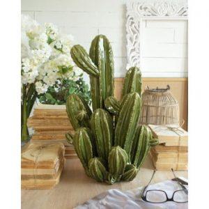 Decorațiune din ceramică Orchidea Milano Cactus, înălțime 48 cm, verde