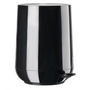 Coș de gunoi cu pedală Zone Nova Shine, 5 l, negru