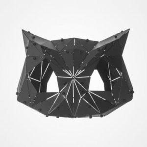 Decorațiune din metal pentru interior / exterior Geo Owl