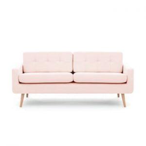Canapea cu 3 locuri Vivonita Ina, roz pastel