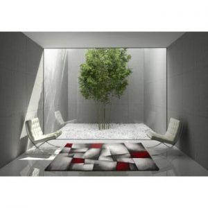 Covor Universal Malmo, 140 x 200 cm, roșu - gri