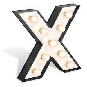 Decorațiune luminoasă în formă de literă Glimte Lamp Floor X