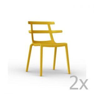 Set 2 scaune de grădină Resol Tokyo, galben