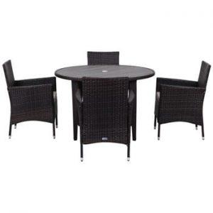 Set de mobilier pentru grădină Safavieh Malaga, negru