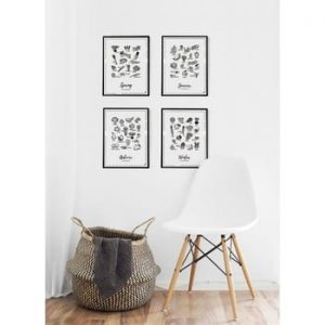 Poster Follygraph 4 Seasons Set, 30 x 40 cm