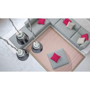 Covor foarte rezistent Floorita Chrome, 135 x 190 cm, roz