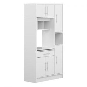 Sistem depozitare pentru bucătărie cu rafturi Symbiosis Louise, alb