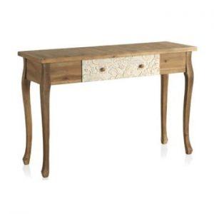 Masă tip consolă din lemn cu sertar Geese Fionne
