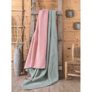 Pătură Cole, 200 x 220 cm, verde - roz